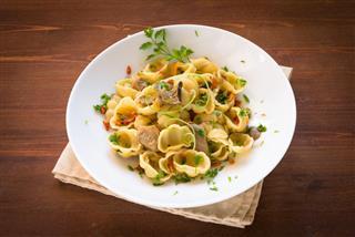 Gnocchi With Mushrooms Italian Cuisine