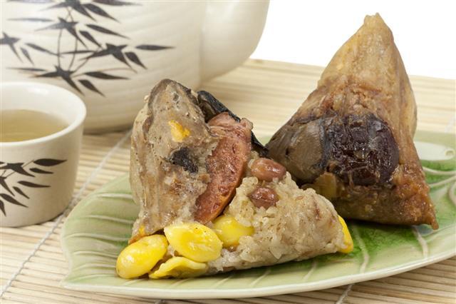 Rice Dumplings With Tea