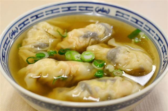 Shrimp Dumplings In Soup