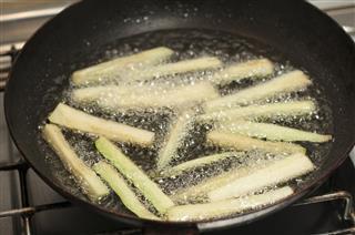 Frying Eggplants
