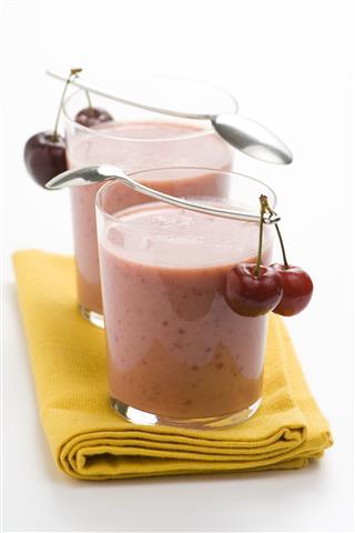 Delicious Cherry Milk Shake