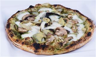 Mushroom And Artichoke Wood Fired Pizza
