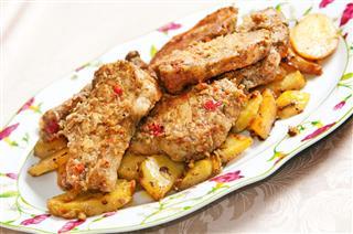 Pork Tenderloin With Potatoes