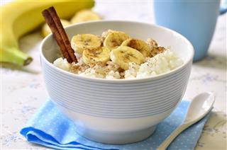 Milk Rice Porridge With Banana