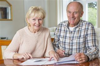 Senior Couple Reviewing Domestic Finances