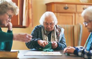 Senior Adult Playing Game