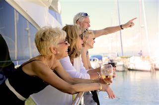 Seniors On Yacht