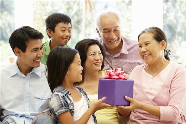 Asian Family Portrait