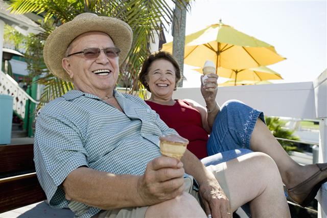 Seniors Enjoying Themselves