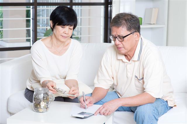 Pension Retiree Saving Concept