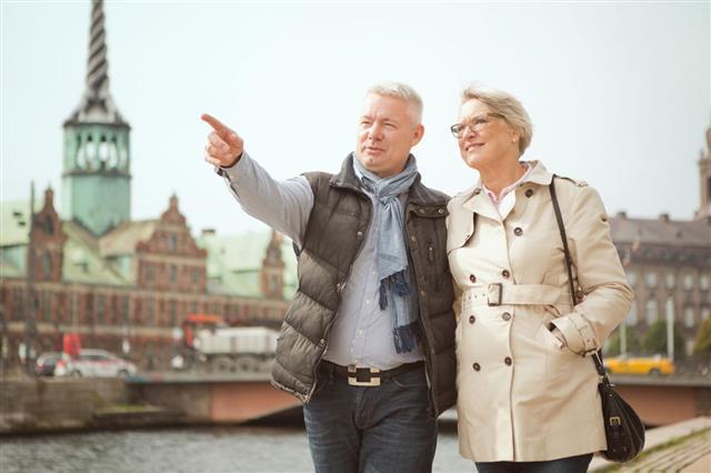 Senior Couple In A City