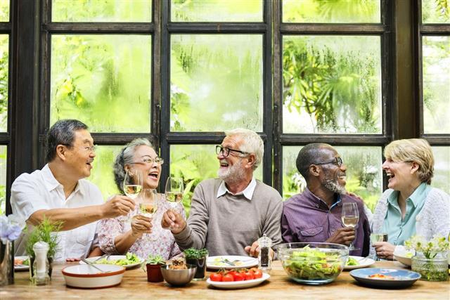 Group Of Senior Enjoying