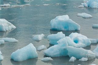 Broken Ice From A Glacier