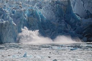 Calving Iceberg In Tracy Arm Alaska