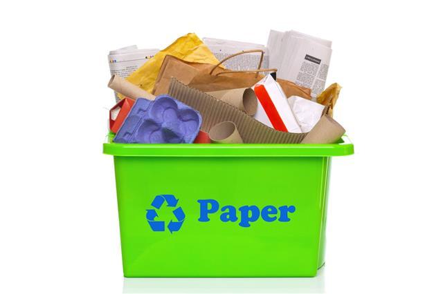 Green Paper Recycling Bin