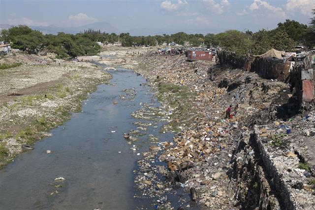 Polluted Area In Haiti