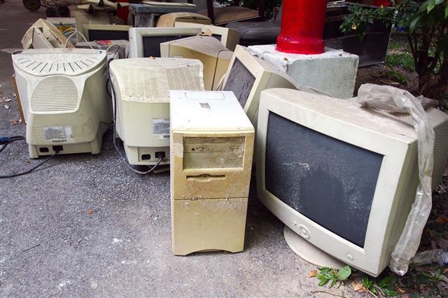 Dismantled Computer Parts