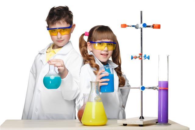 Children Making Chemistry Experiment