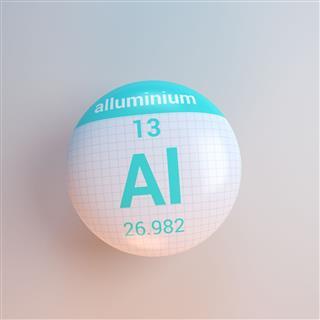 Periodic Table Icon Alluminum