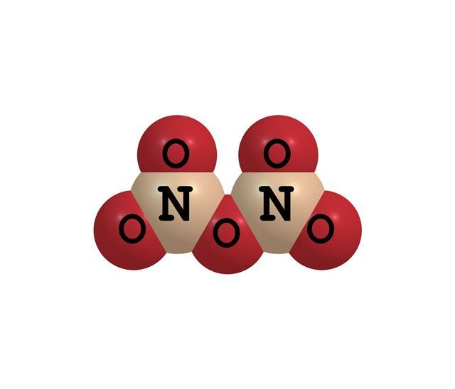 Dinitrogen Pentoxide Molecular Structure