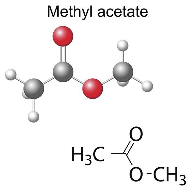 Chemical Formula And Model Of Methyl Acetate