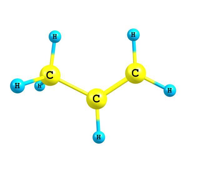 Propene Molecular Structure