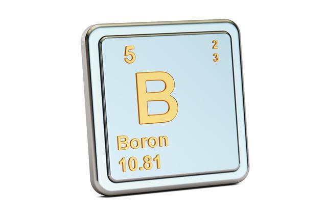 Boron B Chemical Element Sign