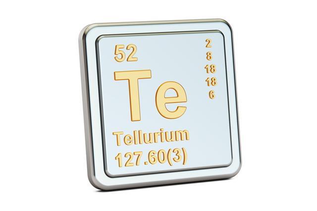 Tellurium Te Chemical Element Sign