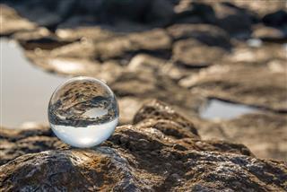 Sea Through Glass Ball