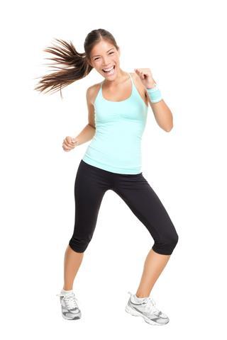 Dance Fitness Trainer Woman Dancing
