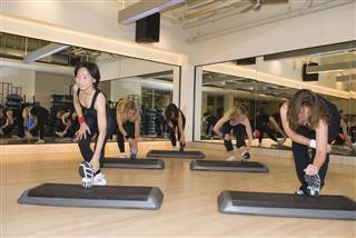 Aerobics Fitness Class Stretch