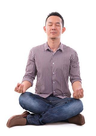 Asian meditation man