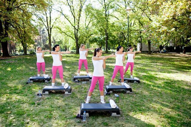 Women Having Fitness Class