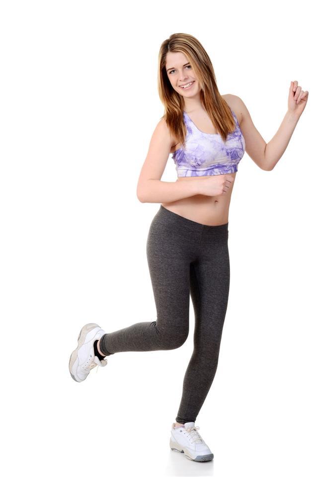 Teen Doing Dance Fitness