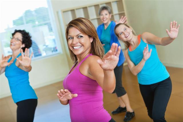 Women Dancing In Exercise