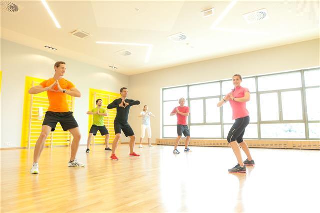 Aerobics In Gym
