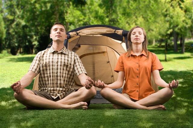 Couples Meditating