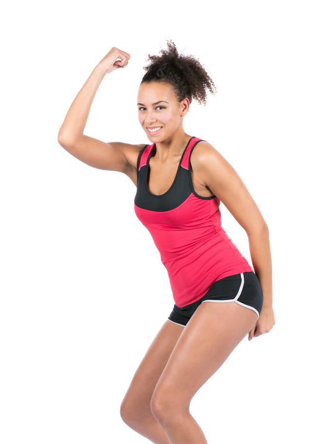 Young Sportswoman Is Dancing