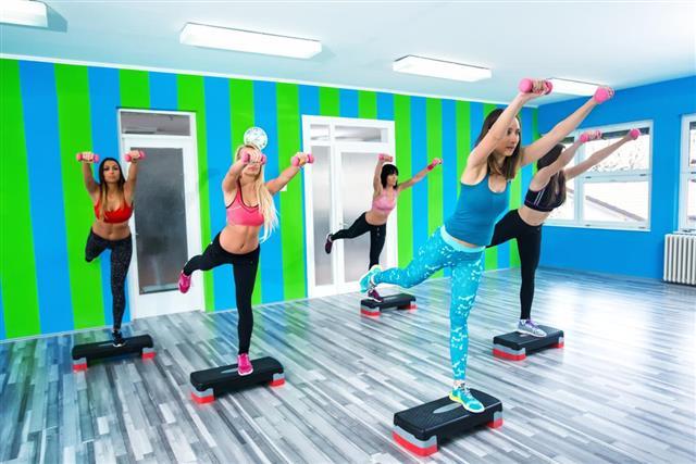 Women in Aerobic class