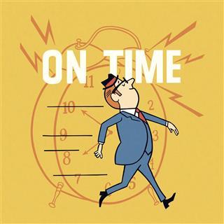 Businessman On Time
