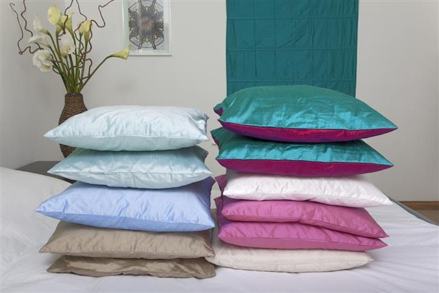 Pretty silk cushions