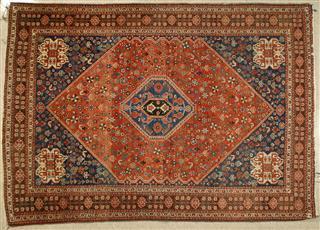 Antique Persian Qashqaii Tribal Rug