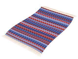 Vintage Patchwork Mat Flying Like A Magic Carpet