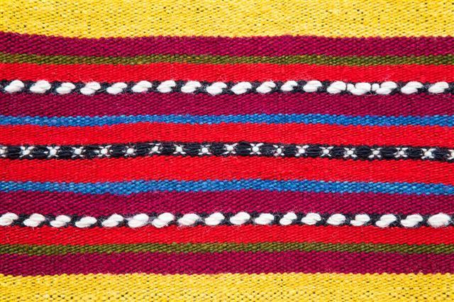 Bulgarian Hand Woven Woolen Rug