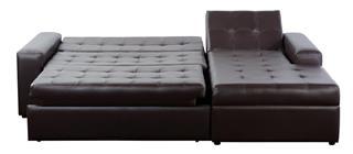 Leather sofa. Isolated