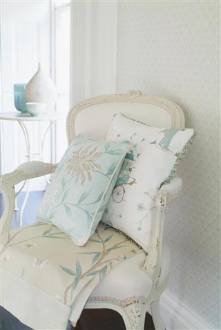 Interior of stylish chair In Window