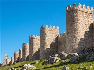 Town Wall Of Avila Spain