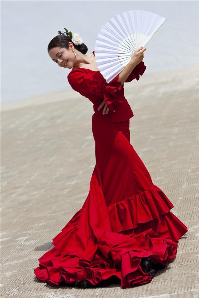 Traditional Woman Spanish Flamenco Dancer