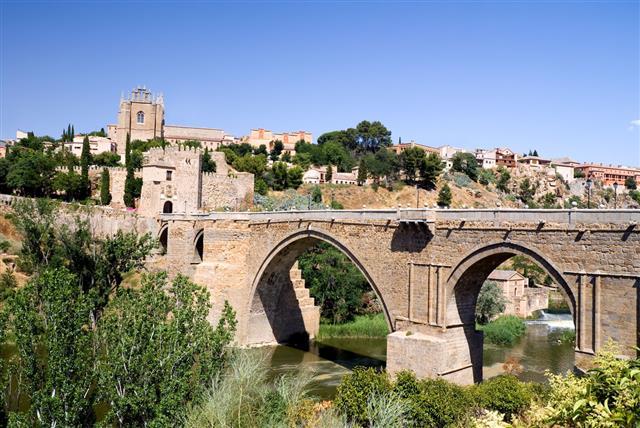 Medieval San Martin Bridge Toledo