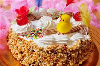 An Ornamented Cake Eaten In Spain
